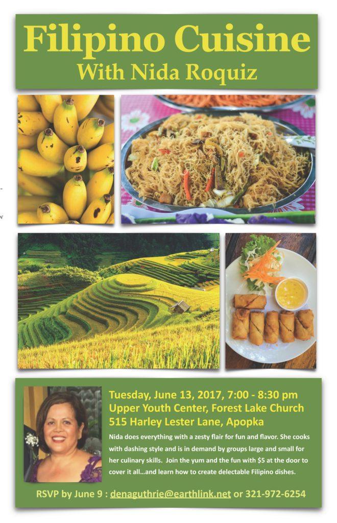Filipino Cuisine Flyer Plant Based